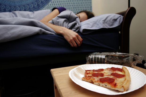 New research has linked sleep deprivation to unhealthy food choice.Columbia News Service story by Erica Rosenberg
